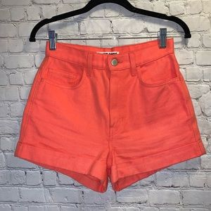 AMERICAN APPAREL High Waisted Coral Shorts